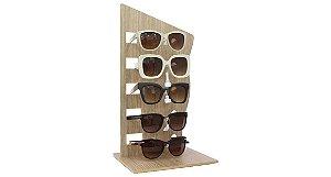 Expositor Torre para 5 Óculos em MDF VT295 Marrom Claro