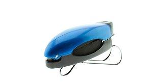 Porta Óculos Veicular para Quebra Sol Clip Car P108 Azul - Unidade