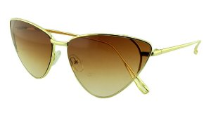 Óculos Solar Feminino Primeira Linha S31088 Marrom Claro Degradê