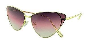Óculos Solar Feminino Primeira Linha S31088 Lilás Degradê