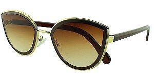 Óculos Solar Feminino Primeira Linha MC5002 Marrom Degradê