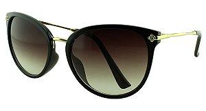 Óculos Solar Feminino Primeira Linha S5222 Preto Degradê