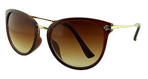 Óculos Solar Feminino Primeira Linha S5222 Marrom Degradê
