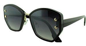 Óculos Solar Feminino Primeira Linha S98512 Preto Degradê