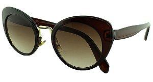 Óculos Solar Feminino Primeira Linha SMU06T Marrom Degradê