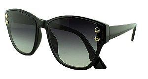 Óculos Solar Feminino Primeira Linha S98511 Preto Degradê