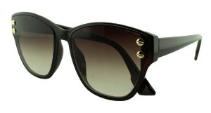 Óculos Solar Feminino Primeira Linha S98511 Marrom Degradê