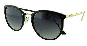 Óculos Solar Unissex Primeira Linha S5280 Preto Degradê