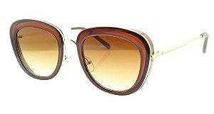 Óculos Solar Feminino Primeira Linha S5254 Marrom Degradê