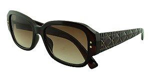 Óculos Solar Feminino Primeira Linha STUDS5 Marrom Degradê