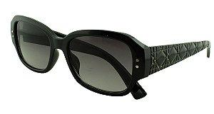 Óculos Solar Feminino Primeira Linha STUDS5 Preto Degradê