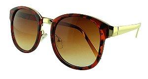 Óculos Solar Feminino Primeira Linha S965 Caramelo Onça