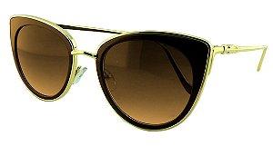 Óculos Solar Feminino Primeira Linha S1870 Marrom Degradê
