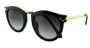 Óculos Solar Feminino Primeira Linha K129 Preto Degradê