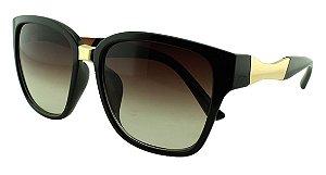 Óculos Solar Feminino Primeira Linha S5224 Preto Degradê