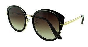 Óculos Solar Feminino Primeira Linha 2641 Preto Degradê