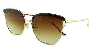 Óculos Solar Feminino Primeira Linha S30072 Marrom Degradê