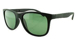 Óculos Solar Masculino Primeira Linha Polarizado 18006AZ Preto e Verde