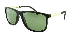 Óculos Solar Masculino Primeira Linha Polarizado 18007AZ Preto e Verde