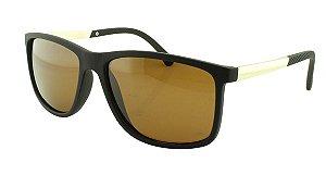 Óculos Solar Masculino Primeira Linha Polarizado 18007AZ Marrom