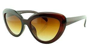 Óculos Solar Feminino NY18044 Marrom Degradê