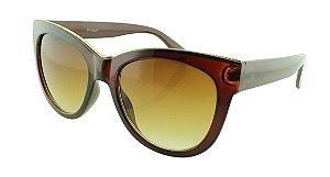 Óculos Solar Feminino NY18107 Marrom Degradê
