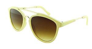 Óculos Solar Feminino VR77265 Creme e Marrom