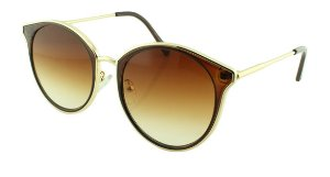 Óculos Solar Feminino Primeira Linha 2687 Marrom Degradê