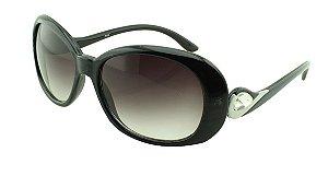 Óculos Solar Feminino 8622 Preto Azulado