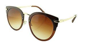 Óculos Solar Feminino Primeira Linha 2754 Marrom Degradê