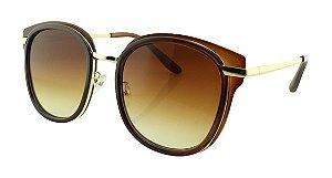 Óculos Solar Feminino Primeira Linha 2640 Marrom Degradê