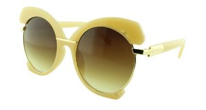 Óculos Solar Feminino E8050 Creme