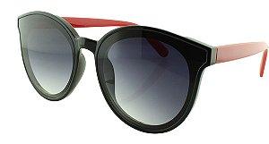 Óculos Solar Feminino 28334 Preto e Vermelho
