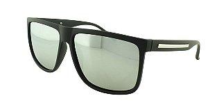 Óculos Solar Masculino Primeira Linha Polarizado P7717 Prata Espelhado