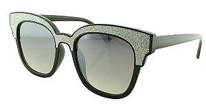 Óculos Solar Feminino B881393 Preto e Prata