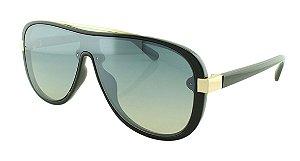 Óculos Solar Unissex Primeira Linha B881389 Preto e Dourado
