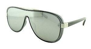 Óculos Solar Unissex Primeira Linha B881389 Prata Espelhado