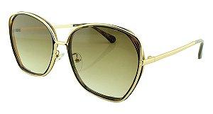 Óculos Solar Feminino Primeira Linha T23 Marrom Onça