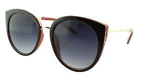 Óculos Solar Feminino 28337 Preto e Vermelho