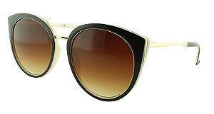 Óculos Solar Feminino 28337 Marrom e Bege