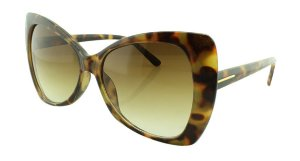 Óculos Solar Feminino E12030 Preto e Marrom Onça