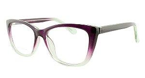 Armação para Óculos de Grau Feminino 35 Roxo e Transparente
