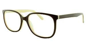 Armação para Óculos de Grau Feminino 17205 Marrom e Creme
