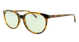 Armação para Óculos de Grau Unissex 8078 Marrom Onça