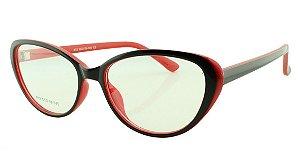 Armação para Óculos de Grau Feminino 12 Preta e Vermelha