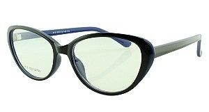 Armação para Óculos de Grau Feminino 12 Preta e Azul