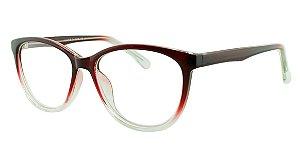 Armação para Óculos de Grau Feminino 39 Vinho e Transparente