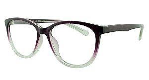 Armação para Óculos de Grau Feminino 39 Roxa e Transparente