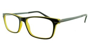 Armação para Óculos de Grau Masculino VC5005 Preta e Amarela