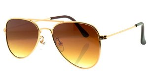 Óculos Solar Unissex Aviador A Marrom Degradê
